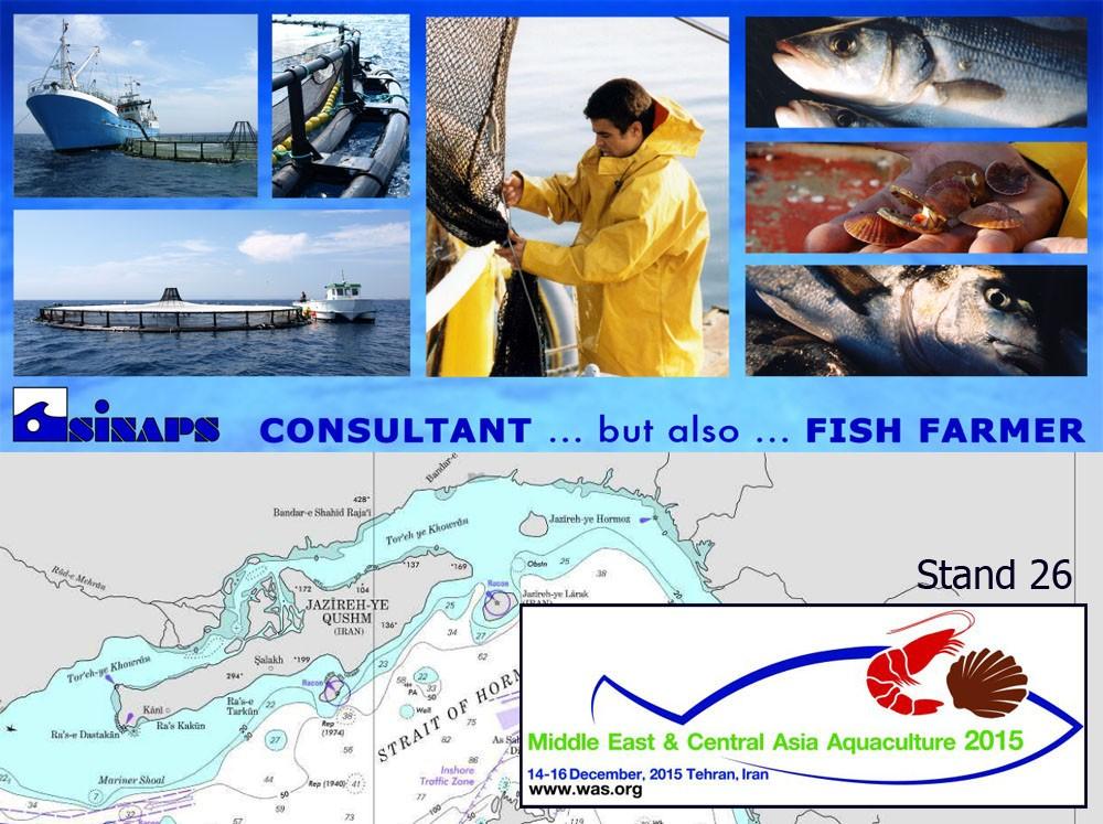 Acuicultura de Oriente Medio y Asia Central, Teherán, Irán, del 14 al 16 de diciembre de 2015